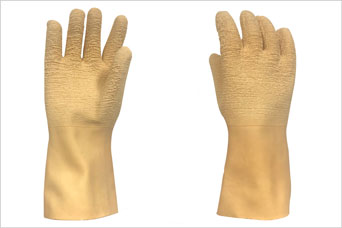 Aquila launch LX300 latex glove - offers high grip - keeps operator hands dry, warm and safe
