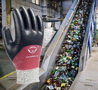 Aquila can provide high-quality gloves offering protection and comfort to people in the waste handling and recycling industries