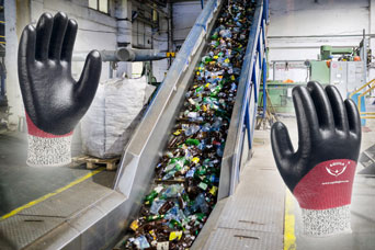 RE05F glove for waste processing and recycling industry