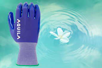 Aquila NR18E coated gloves for non-medical use with less waste and better grip properties