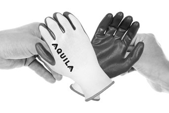 Aquila NR3006 nylon gloves, palm coated with flat nitrile