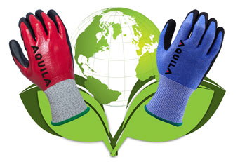 Industrial glove PPE goes environmentally aware with Aquila
